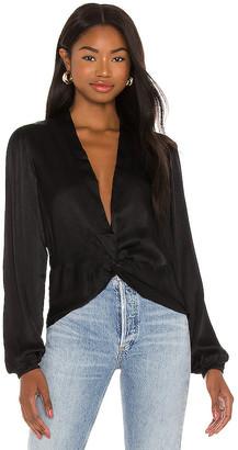 Bobi BLACK Sleek Textured Woven Top