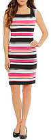 Alex Marie Simone Cao Sleeve Stripe Sheath Dress