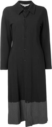 Comme Des Garçons Pre Owned 1993's Contrast Hem Long Coat