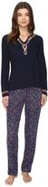 Lucky Brand Embellished Knit PJ Set