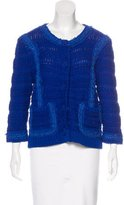 Rachel Roy Ruffle-Trimmed Knit Jacket w/ Tags