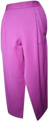 Christian Dior Pink Wool Trousers