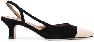 Paris Texas Snakeskin Effect Slingback Sandals