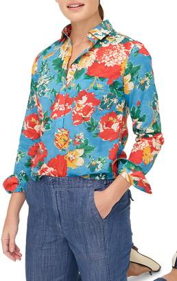J.Crew Classic Ratti(R) Bahama Floral Print Popover Shirt