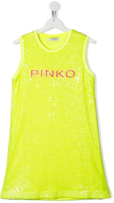 Pinko Kids TEEN sequin-embellished sleeveless dress