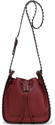 Valentino Garavani Rockstud Pebbled-leather Bucket Bag