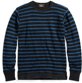 Ralph Lauren Indigo Striped Cotton Crewneck