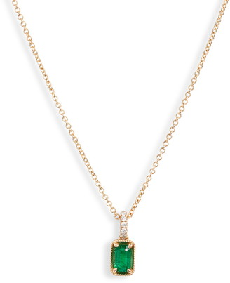 Bony Levy El Mar Emerald & Diamond Pendant Necklace