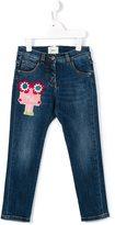Fendi FF detail regular jeans - kids - Cotton/Polyester/Spandex/Elastane - 4 yrs