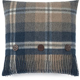UGG Glacier Fringed Plaid Wool Feather Pillow