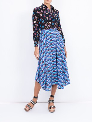 Riviera LHD blue checks french skirt