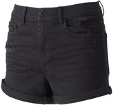 Mudd Juniors' Ripped High Waisted Black Shortie Shorts