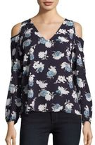 Collective Concepts Floral Print Cold Shoulder Top
