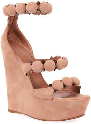 Alaia Bombe Platform Wedge Sandals