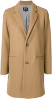 A.P.C. straight button up coat