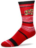 For Bare Feet Adult Maryland Terrapins RMC Stripe Crew Socks