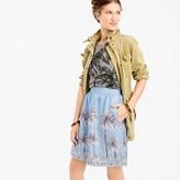J.Crew Petite linen skirt in palm tree print