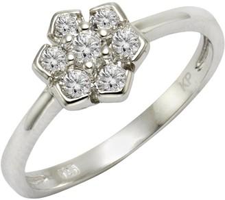 Celesta ZEEme Silver Women's Ring 925 Rhodium-Plated Silver and White Zirconia Brilliance 358271251 white