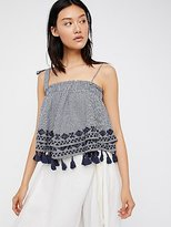 Free People Embroidered Gingham Tube