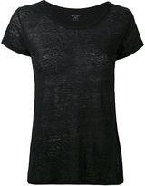 Majestic Filatures round neck T-shirt - women - Linen/Flax - 3