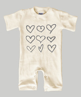 Urban Smalls Cream Hearts Romper