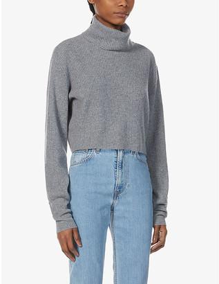 Reformation Luisa turtleneck cropped cashmere jumper
