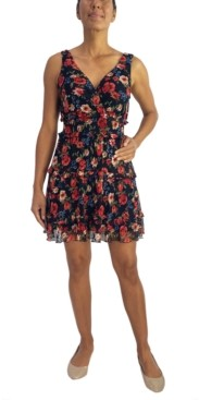 City Studios Juniors' Ruffled Fit & Flare Dress