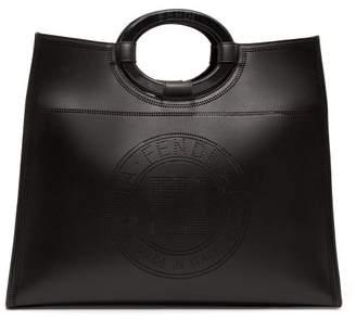 Fendi Runaway Perforated-logo Leather Bag - Womens - Black