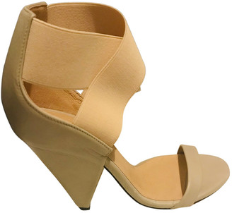 IRO Beige Leather Sandals