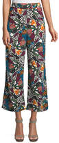 Veronica Beard Eira Multi-Printed Wide-Leg Pants