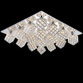 oovov Square Crystal Living Room Ceiling Lamp Fixtures Creative Fashion Dining Room Ceiling Light Study Room Bedroom Ceiling Lights