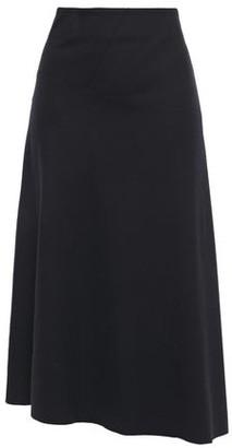Vince Asymmetric Wool-blend Midi Skirt