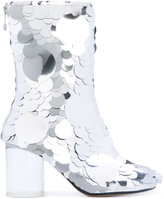 Maison Margiela Paillettes ankle boots - women - Calf Leather/Leather - 36