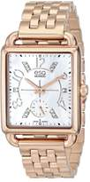 ESQ by Movado ESQ Movado Women's 07101416 Origin Ionic Rose Gold-Plated Steel Case Bracelet White Dial Diamond Accents Watch