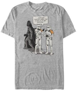 Star Wars Men's Classic Nice Suit Darth Vader Comic Humor Short Sleeve T-Shirt