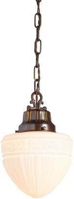 Rejuvenation Classical Revival Pendant w/ Opal Acorn Shade