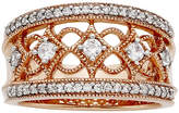 JCPenney FINE JEWELRY LIMITED QUANTITIES 1/2 CT. T.W. Diamond 10K Rose Gold Ring