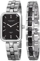 Akribos XXIV Women's Genuine Diamond Watch & Bracelet Set