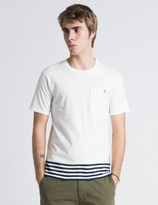 Silas White SS Panel Border T-Shirt
