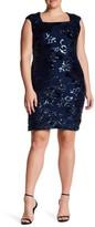 Marina Sequined Sheath Dress (Plus Size)