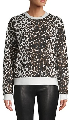 Betsey Johnson Leopard-Print Cotton-Blend Sweatshirt