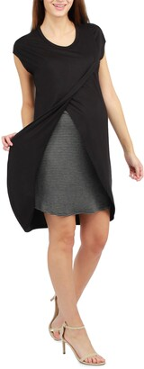 Savi Mom Lille Layered Maternity/Nursing Dress