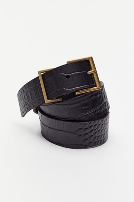 Urban Outfitters Croc-Embossed Leather Belt