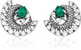 Sutra Emerald Stud Earrings
