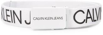 Calvin Klein Kids Woven Logo Print Belt