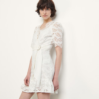 Sandro Short broderie anglaise dress