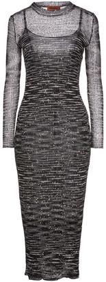 Missoni Sequin-embellished Metallic Crochet-knit Midi Dress