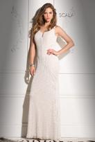 Scala 48721 V-Neckline Beaded Prom Dress