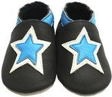 Mejale Baby Boy Shoes Soft Soled Leather Moccasins Stars Infant Toddler Pre-walker(12-18 months,)