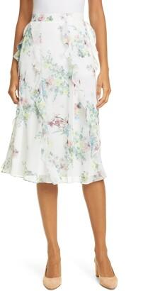 Ted Baker Lurissa Pergola Floral Ruffle Skirt